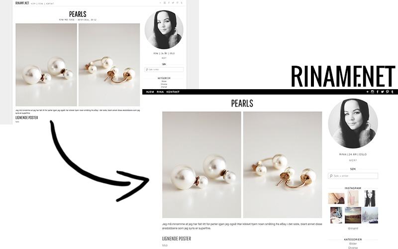 Nytt design @ rinamf.net