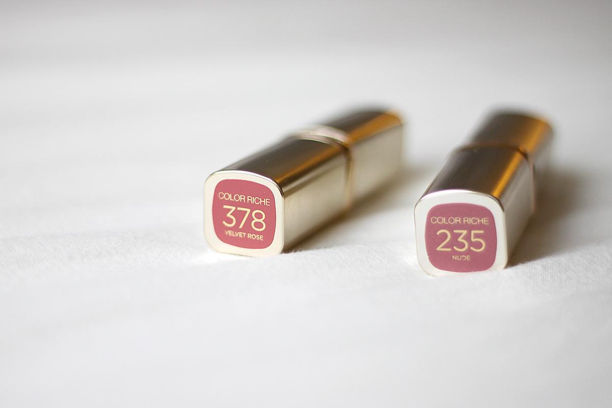 L'Oréal lipstics