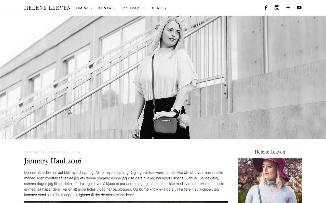 Bloggdesign, Helene Lekven