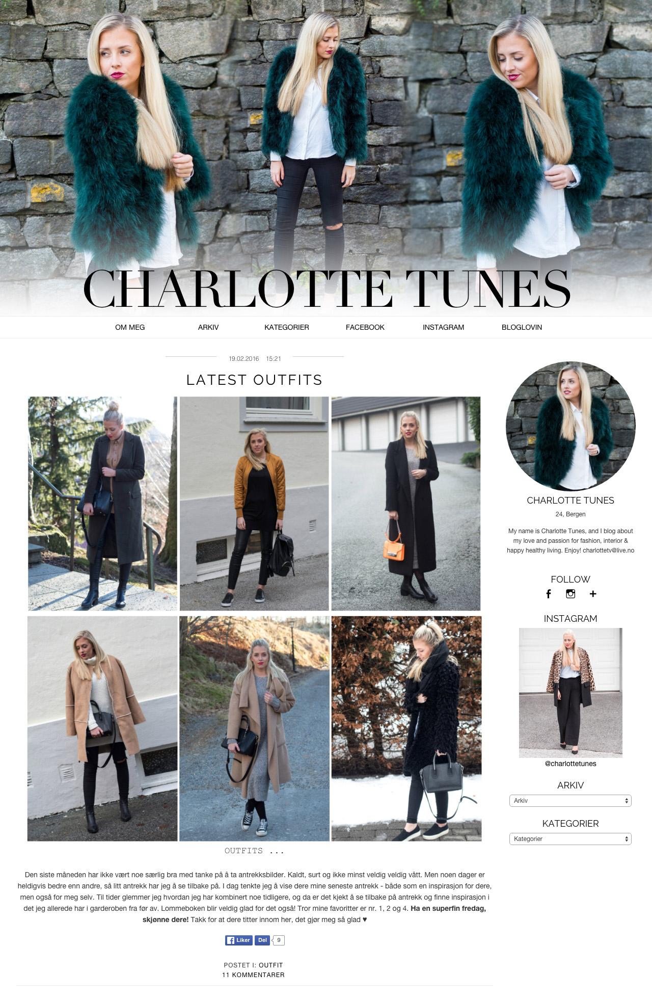 Bloggdesign Charlotte Tunes