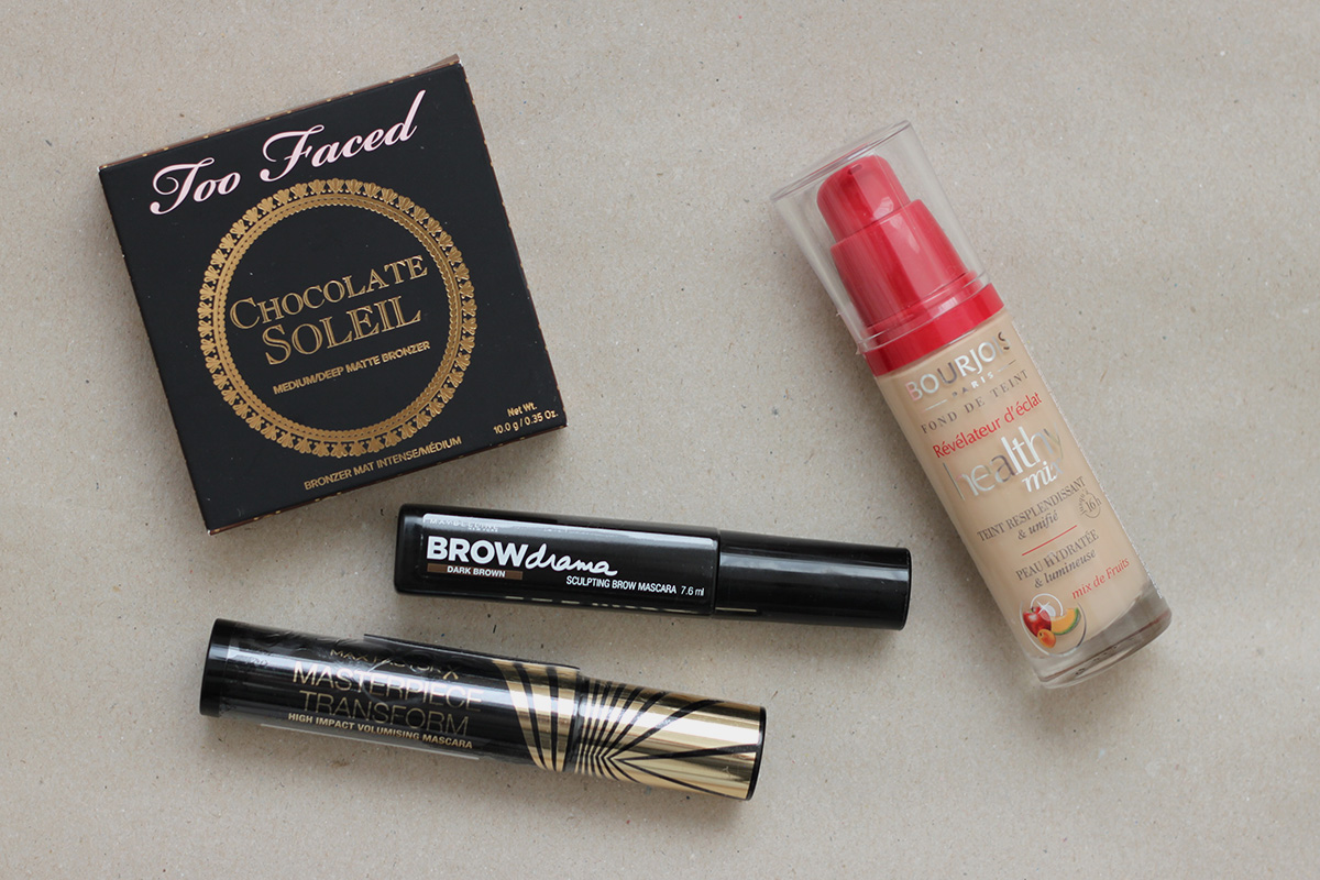 Too Faced, Maybelline, Max Factor, Bourjois
